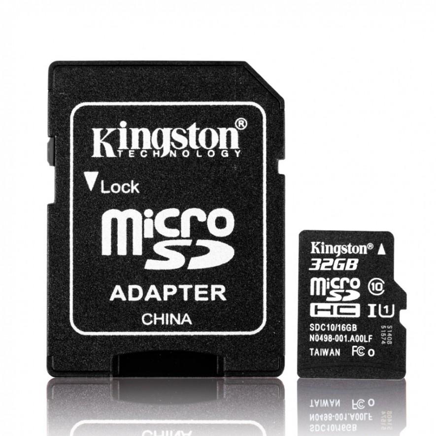 Kingston Pamäťová MIKRO SD karta 32GB Class 10