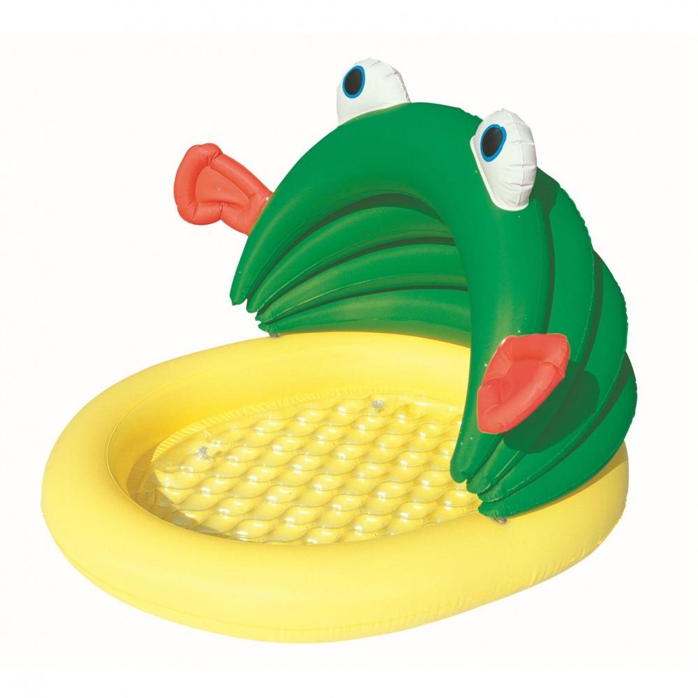 BESTWAY 52162 Detský bazén žaba so strieškou 107 x 104 x 71 cm