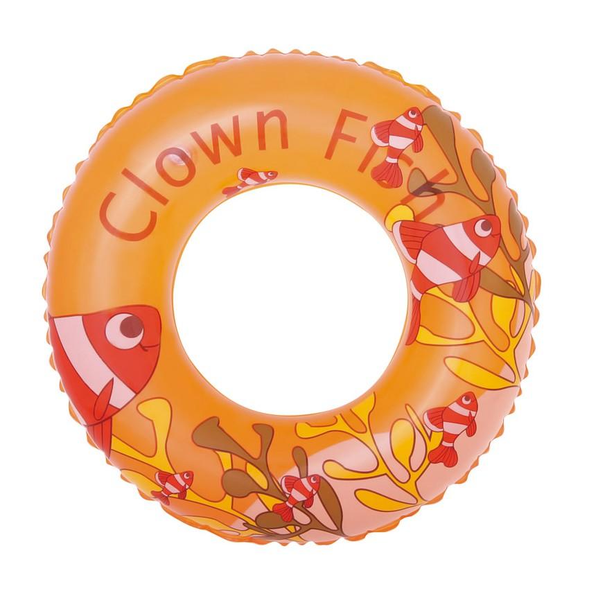 BESTWAY Detský nafukovací kruh 51 cm oranžový